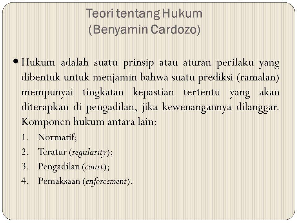 Teori tentang Hukum (Benyamin Cardozo)