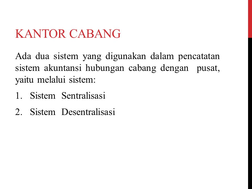 KANTOR CABANG