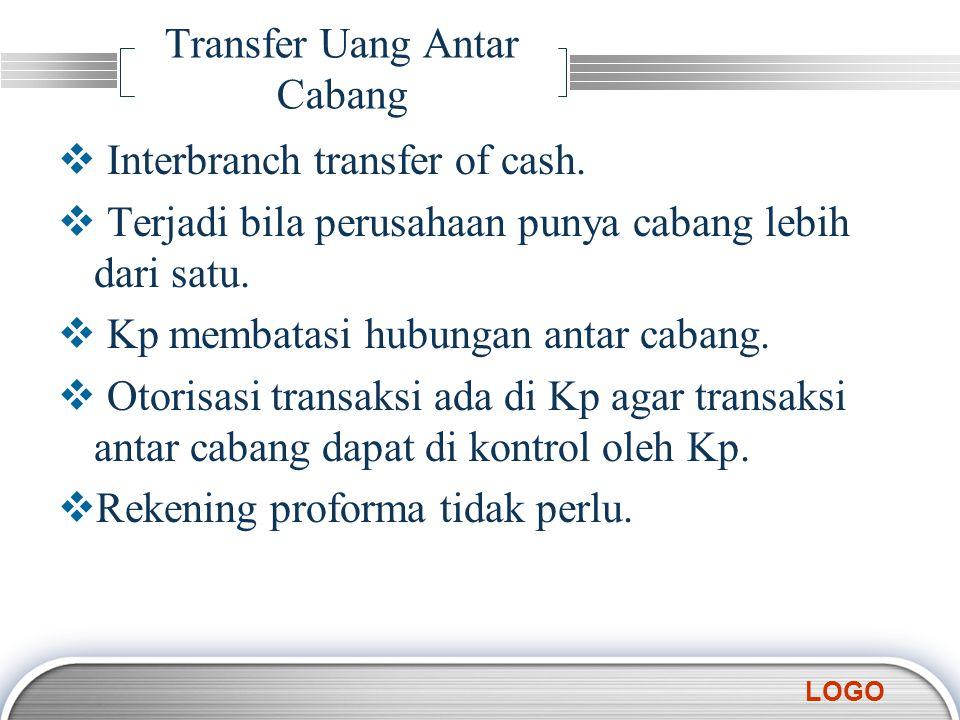 Transfer Uang Antar Cabang