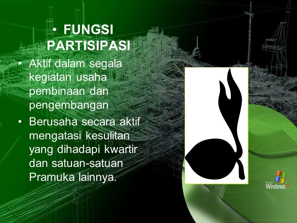 FUNGSI PARTISIPASI Aktif dalam segala kegiatan usaha pembinaan dan pengembangan.