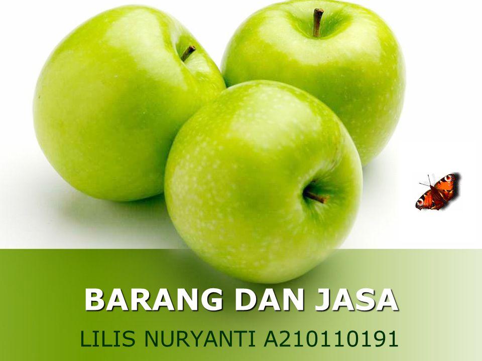 BARANG DAN JASA LILIS NURYANTI A210110191