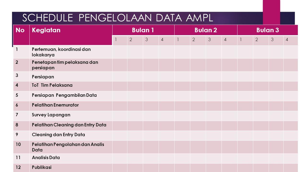 SCHEDULE PENGELOLAAN DATA AMPL