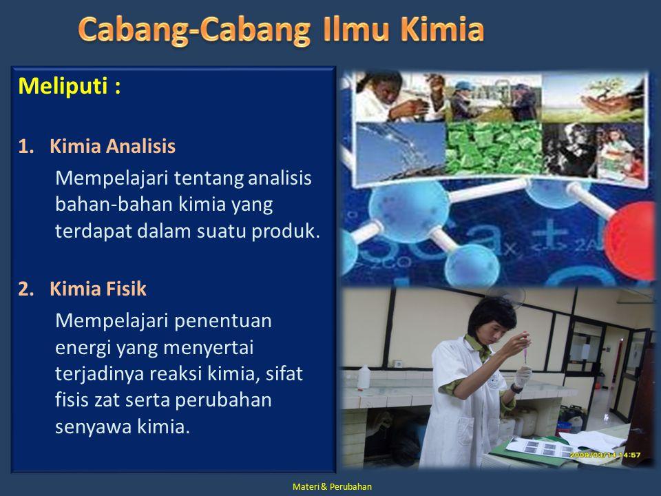 Cabang-Cabang Ilmu Kimia
