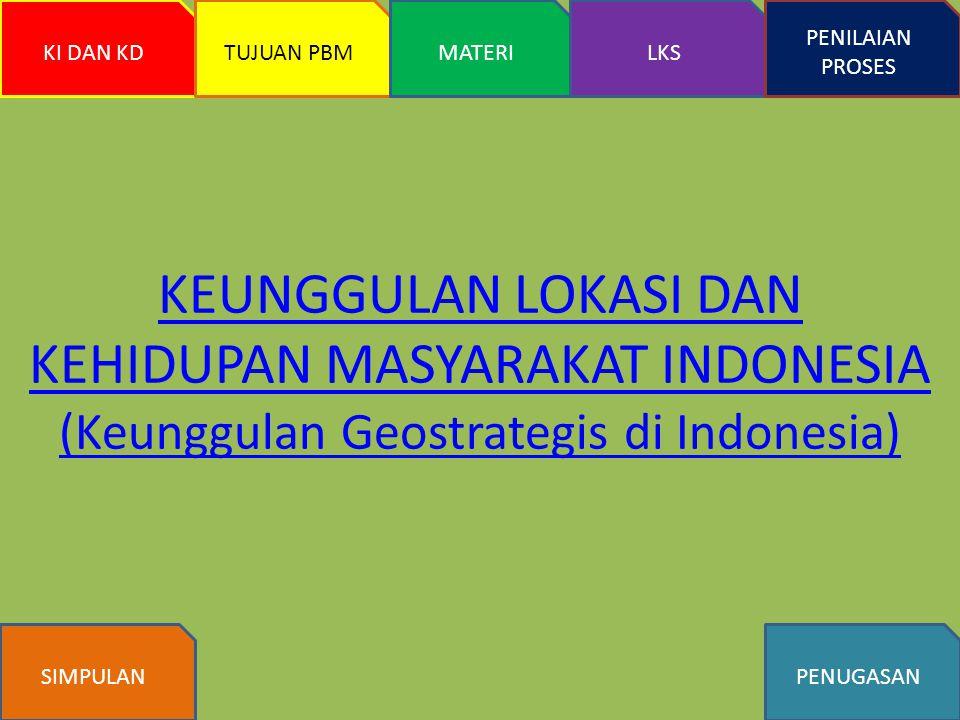 KEUNGGULAN LOKASI DAN KEHIDUPAN MASYARAKAT INDONESIA (Keunggulan Geostrategis di Indonesia)