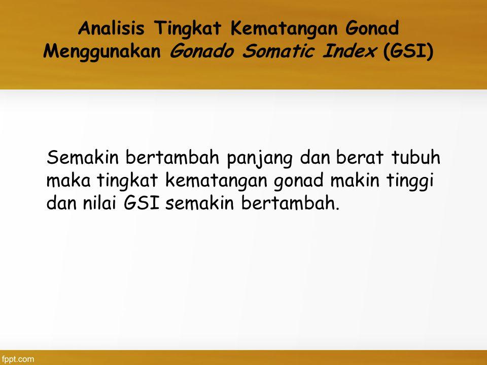 Analisis Tingkat Kematangan Gonad Menggunakan Gonado Somatic Index (GSI)