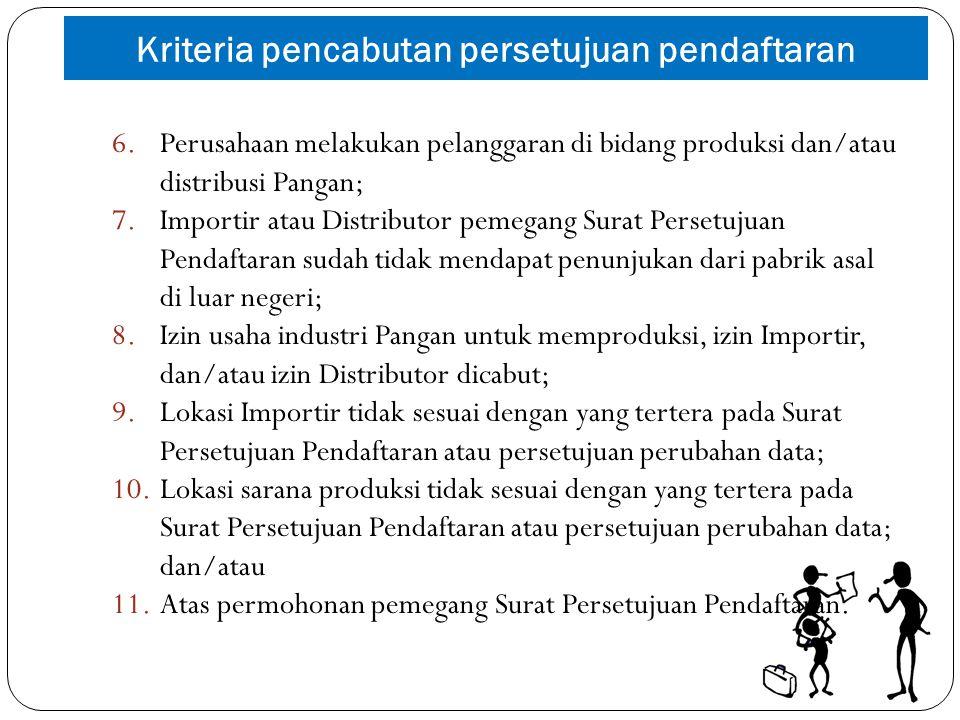 Kriteria pencabutan persetujuan pendaftaran