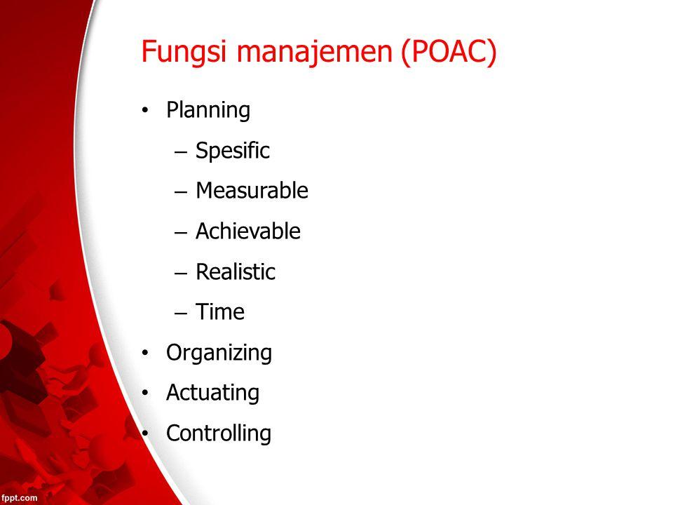 Fungsi manajemen (POAC)
