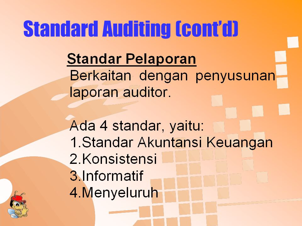 Standard Auditing (cont'd)