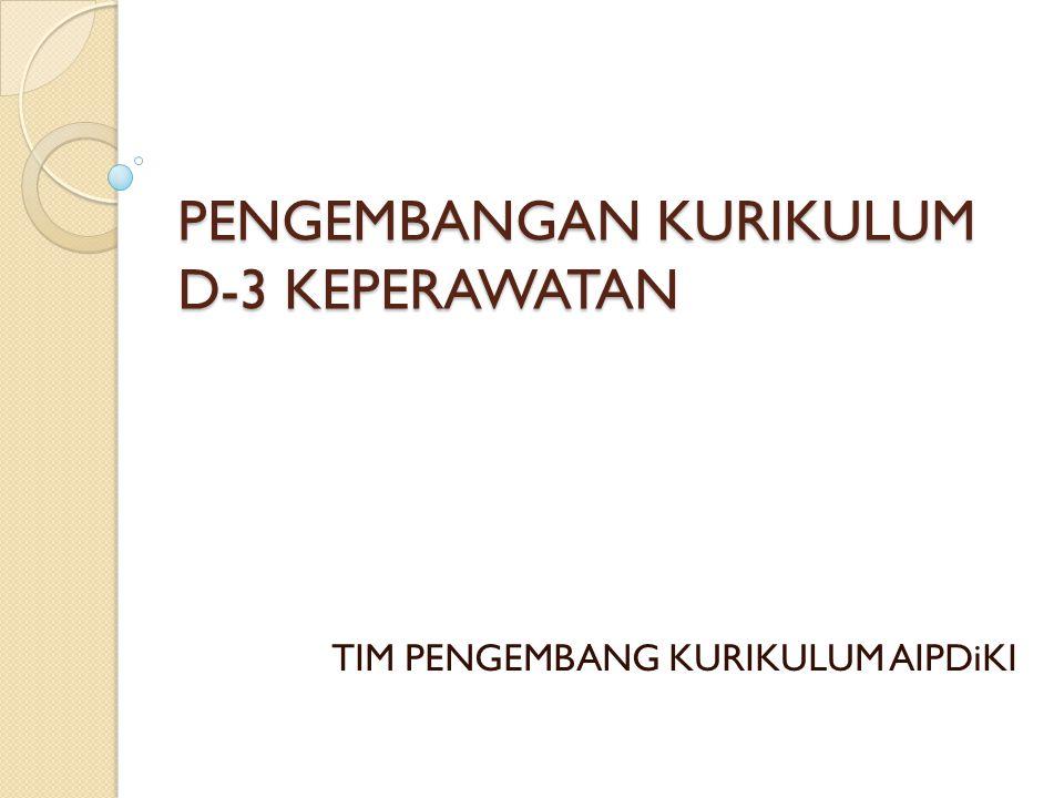 PENGEMBANGAN KURIKULUM D-3 KEPERAWATAN