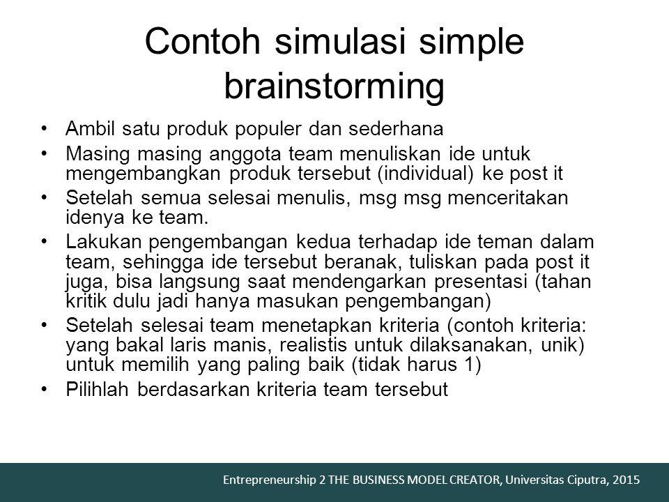 Contoh simulasi simple brainstorming