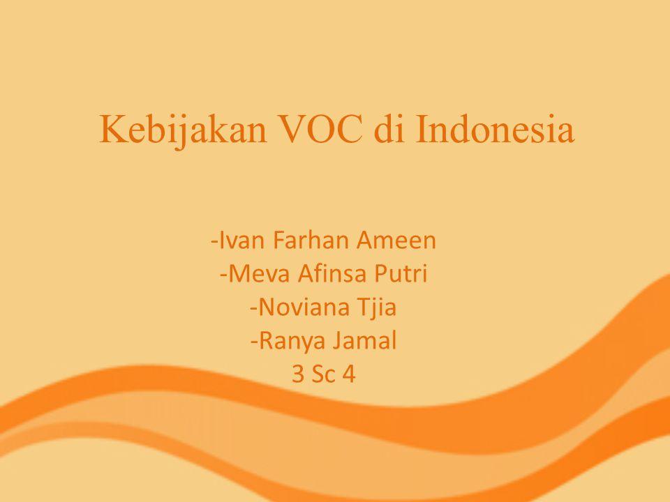 Kebijakan VOC di Indonesia
