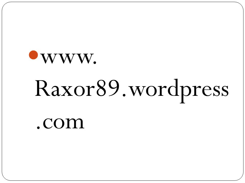 www. Raxor89.wordpress .com