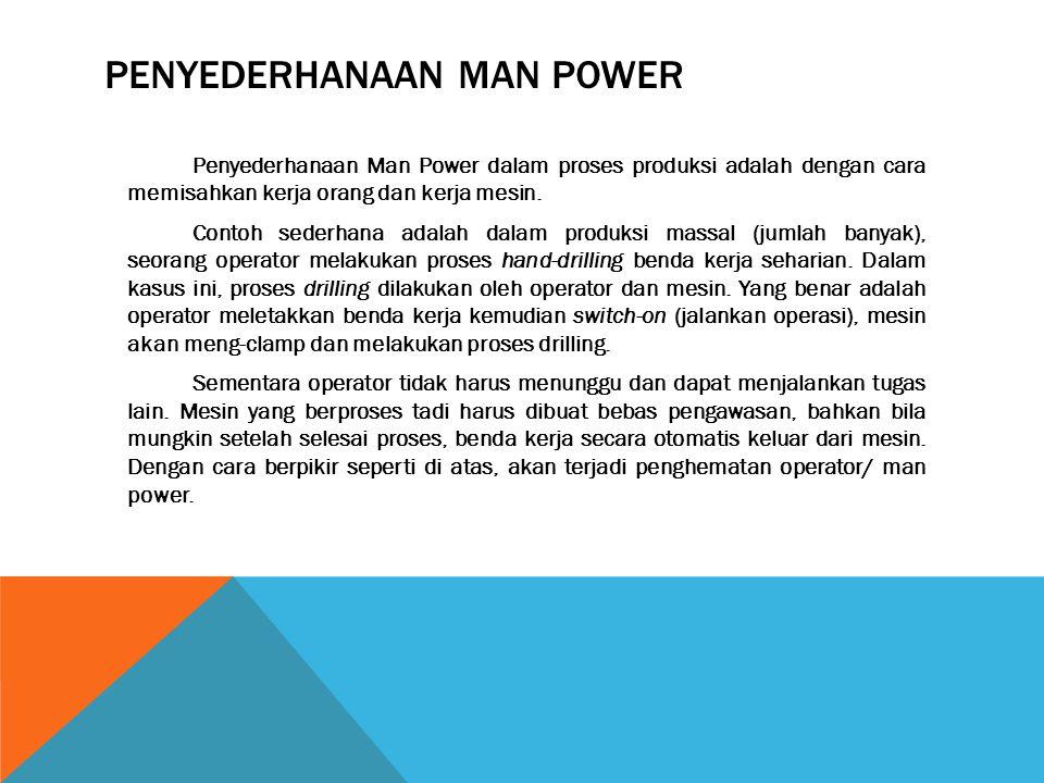 Penyederhanaan Man power