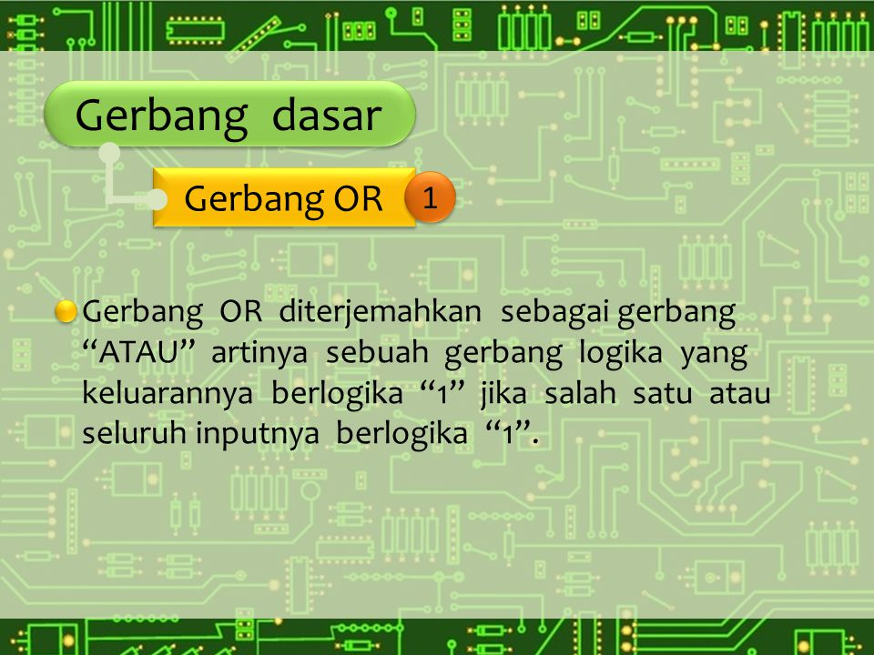 Gerbang dasar Gerbang OR 1
