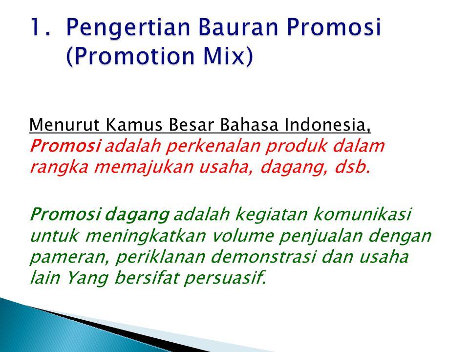 1. Pengertian Bauran Promosi (Promotion Mix)