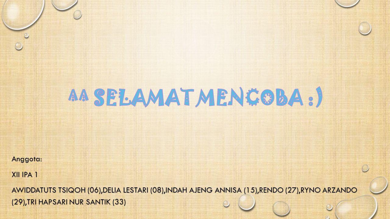 ^^ SELAMAT MENCOBA :)