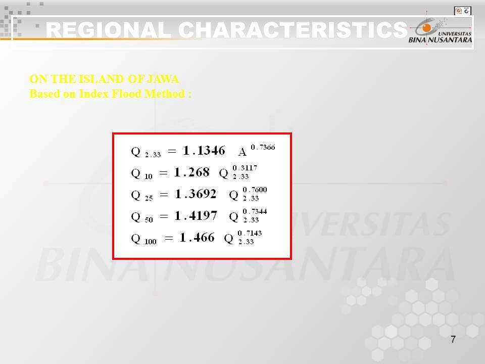 REGIONAL CHARACTERISTICS