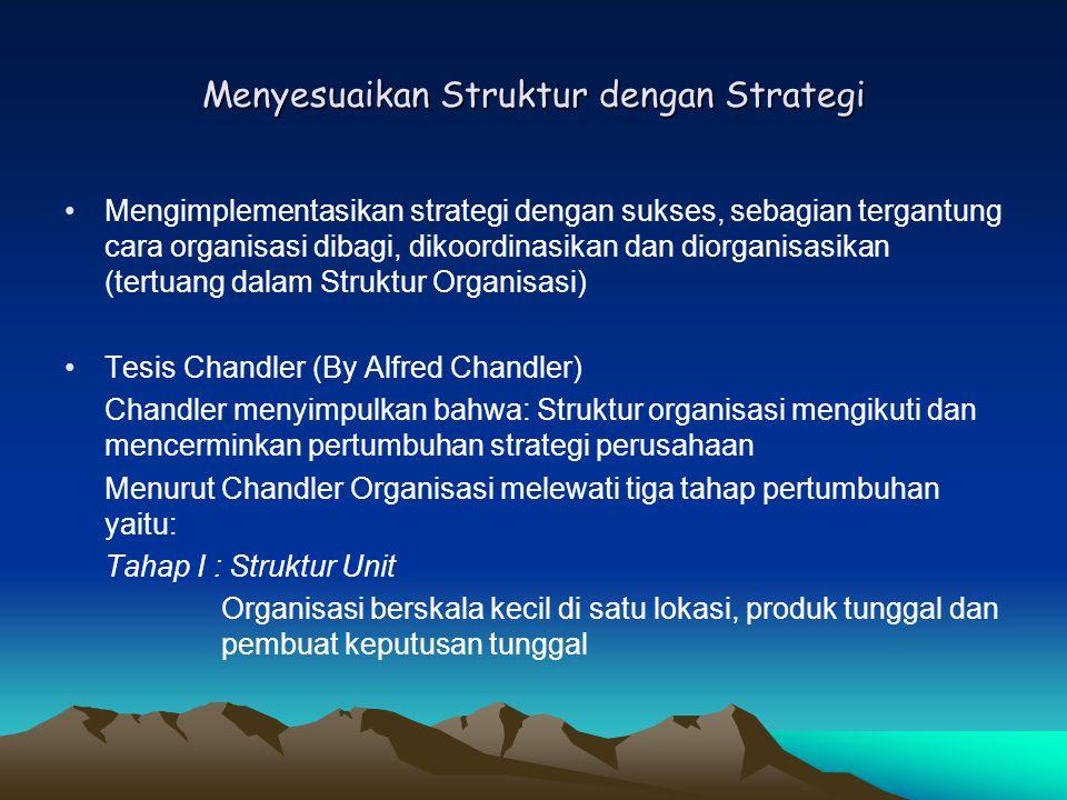 Menyesuaikan Struktur dengan Strategi