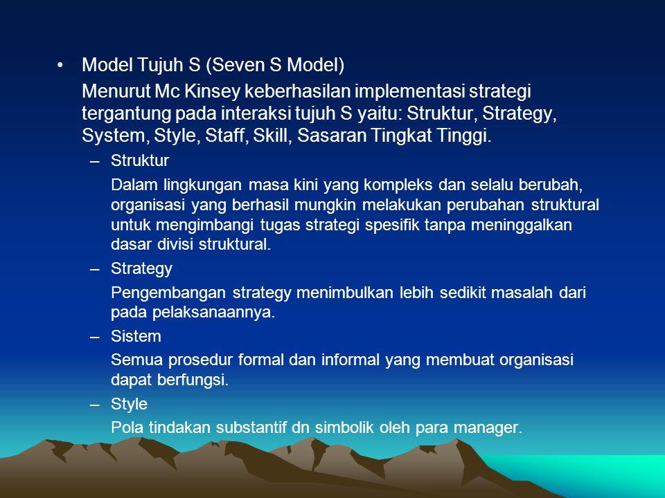 Model Tujuh S (Seven S Model)