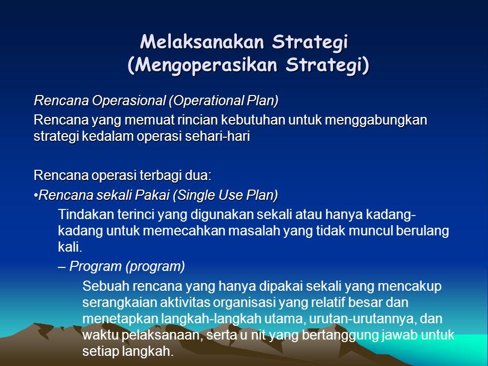 Melaksanakan Strategi (Mengoperasikan Strategi)