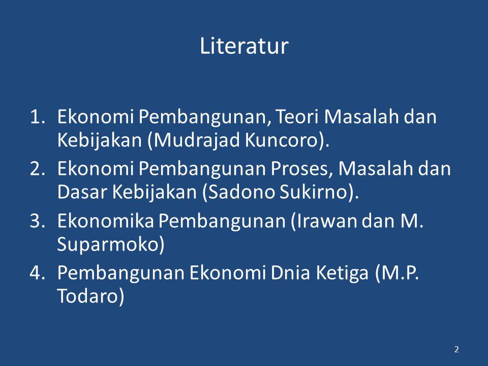 Literatur Ekonomi Pembangunan, Teori Masalah dan Kebijakan (Mudrajad Kuncoro).