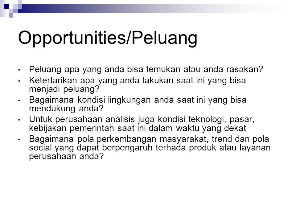 Opportunities/Peluang