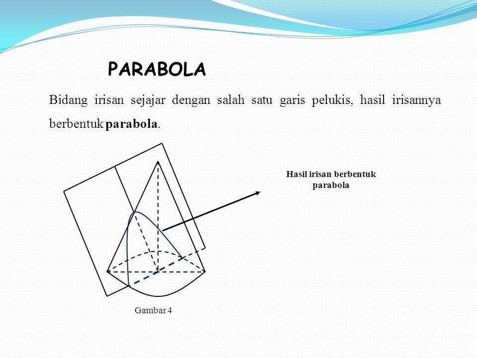 Hasil irisan berbentuk parabola