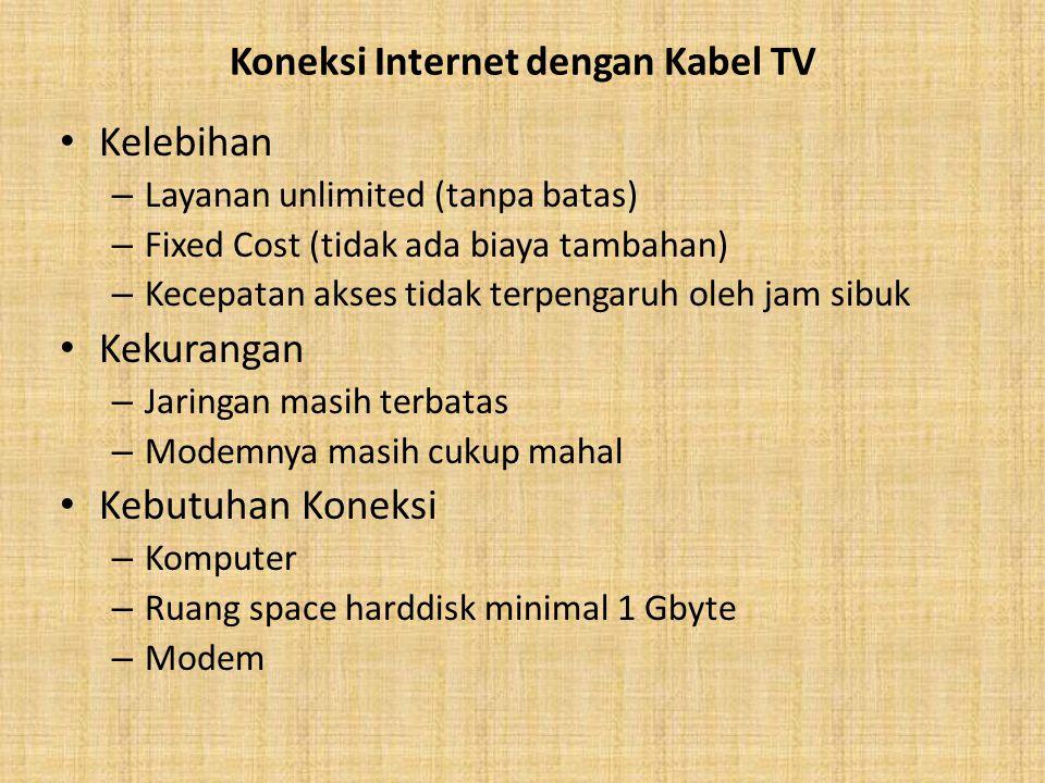 Koneksi Internet dengan Kabel TV