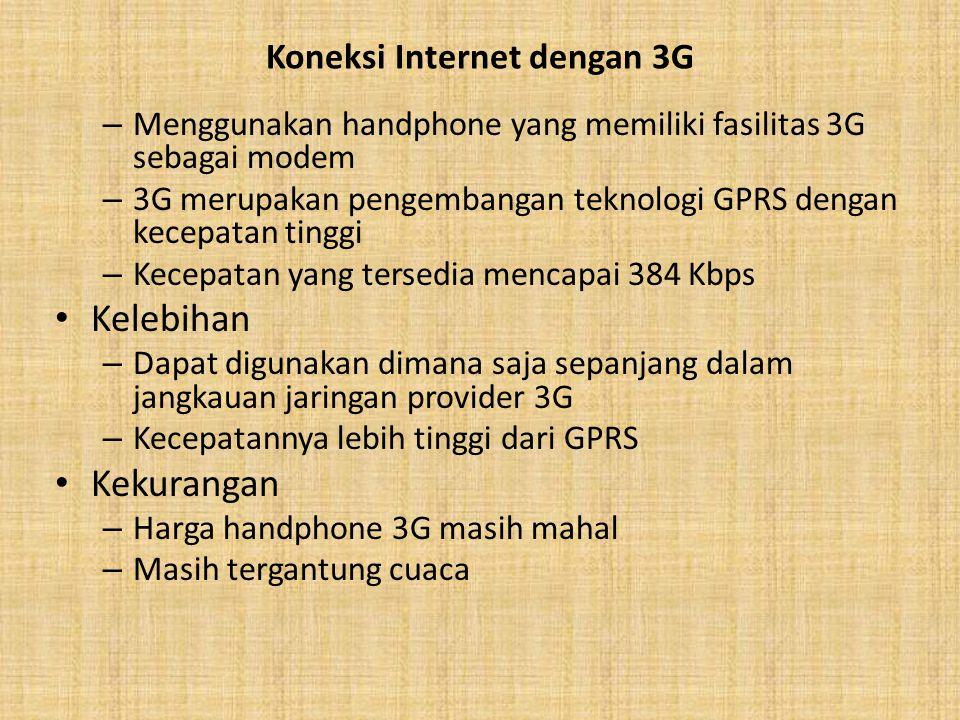 Koneksi Internet dengan 3G