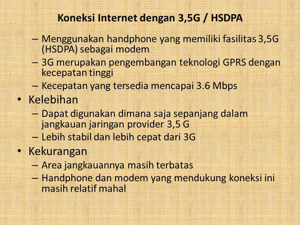 Koneksi Internet dengan 3,5G / HSDPA