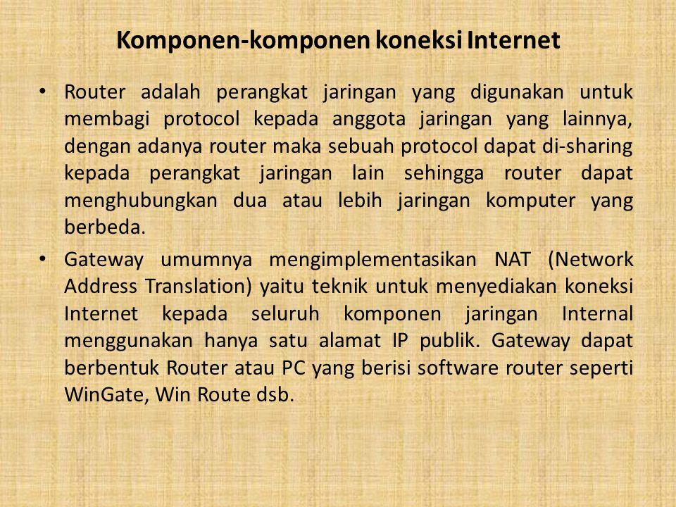 Komponen-komponen koneksi Internet