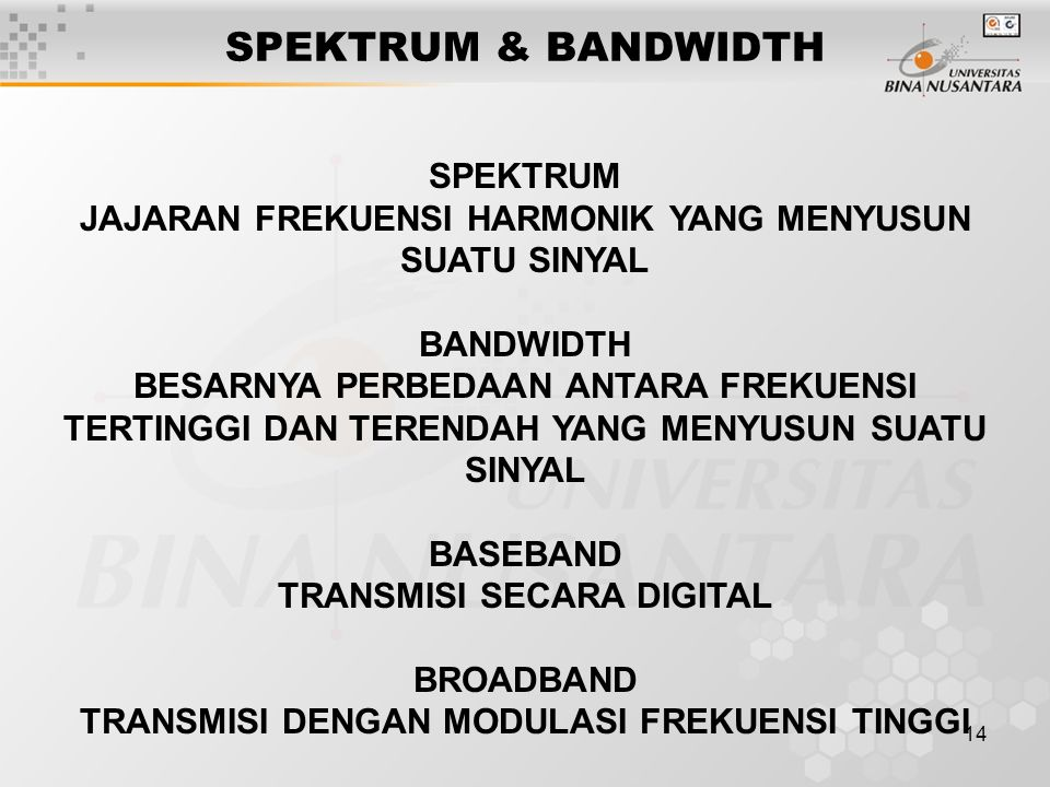 SPEKTRUM & BANDWIDTH SPEKTRUM