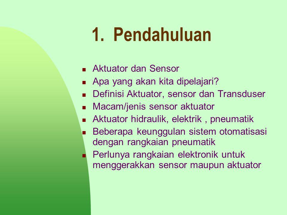 1. Pendahuluan Aktuator dan Sensor Apa yang akan kita dipelajari