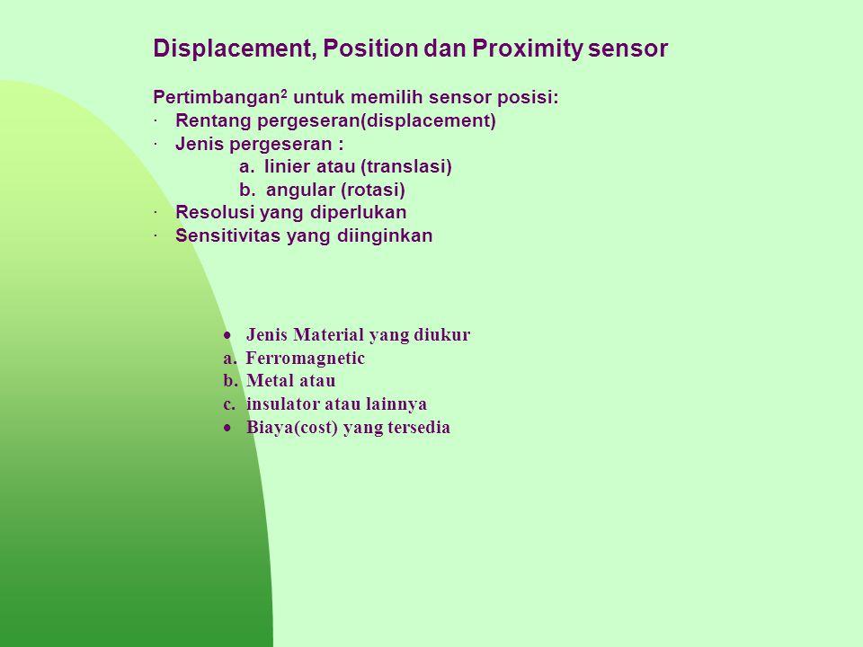 Displacement, Position dan Proximity sensor