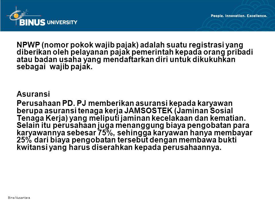 NPWP (nomor pokok wajib pajak) adalah suatu registrasi yang diberikan oleh pelayanan pajak pemerintah kepada orang pribadi atau badan usaha yang mendaftarkan diri untuk dikukuhkan sebagai wajib pajak.