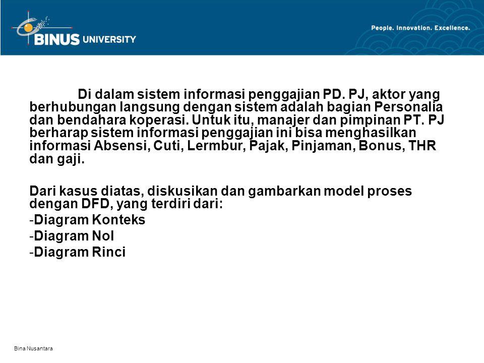 Di dalam sistem informasi penggajian PD