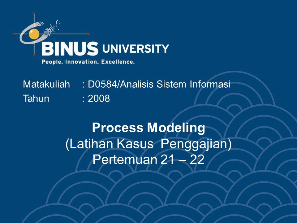 Process Modeling (Latihan Kasus Penggajian) Pertemuan 21 – 22