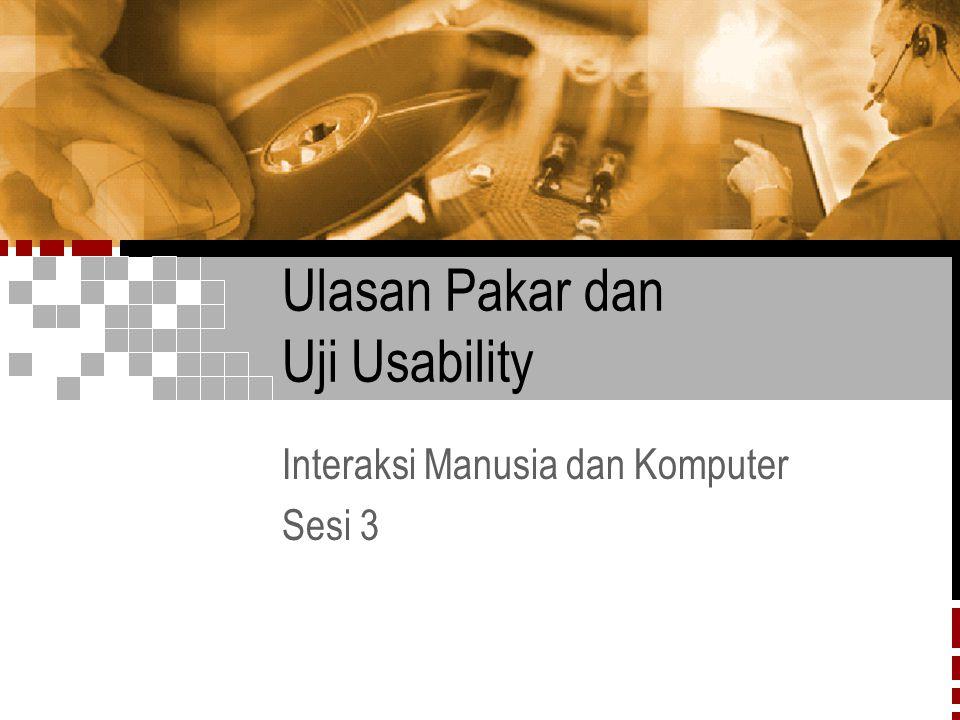 Ulasan Pakar dan Uji Usability