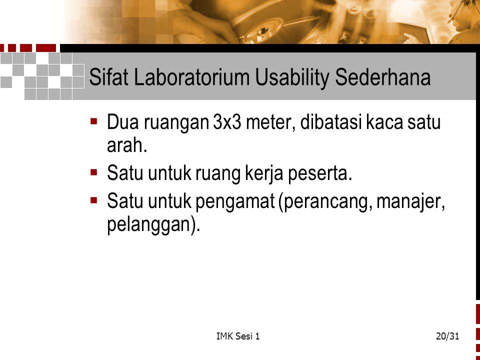 Sifat Laboratorium Usability Sederhana