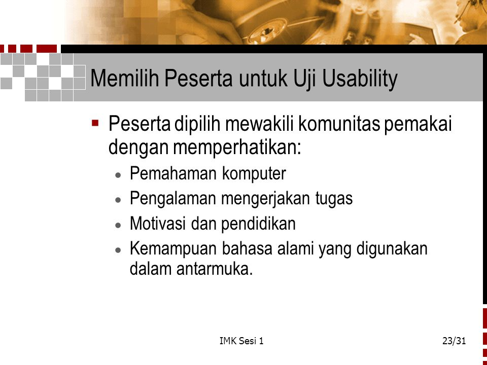 Memilih Peserta untuk Uji Usability
