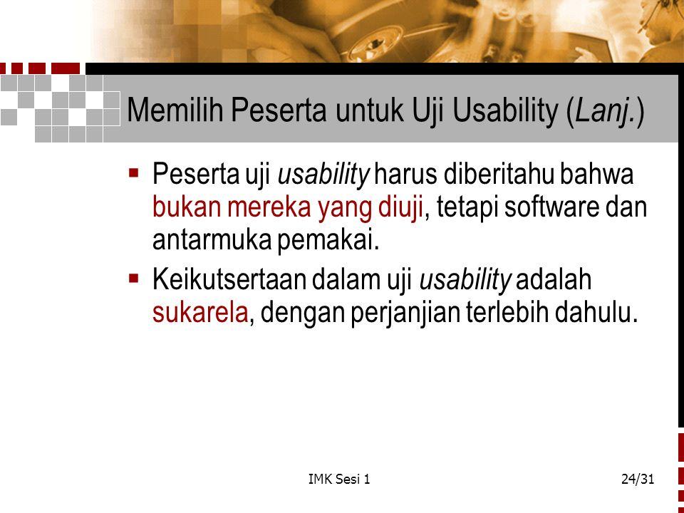 Memilih Peserta untuk Uji Usability (Lanj.)