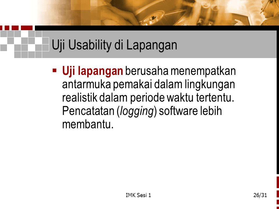Uji Usability di Lapangan