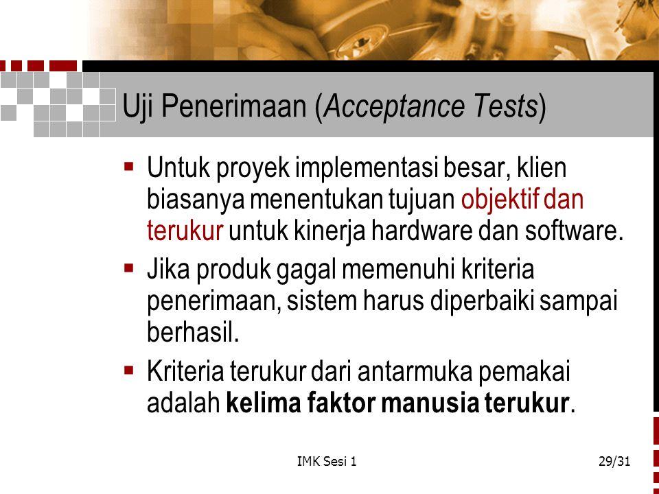 Uji Penerimaan (Acceptance Tests)