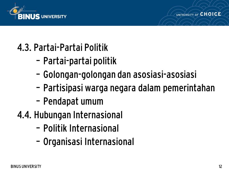 4.3. Partai-Partai Politik Partai-partai politik