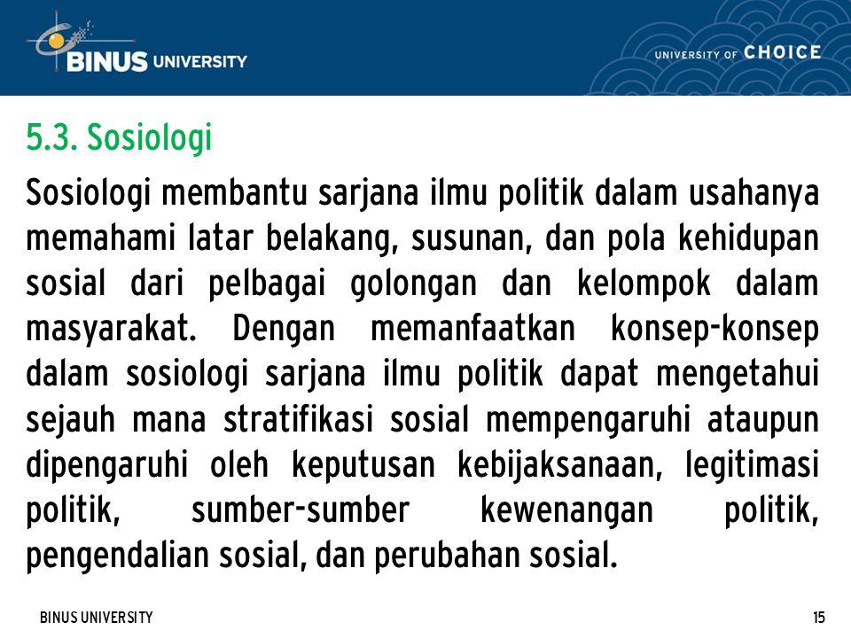 5.3. Sosiologi