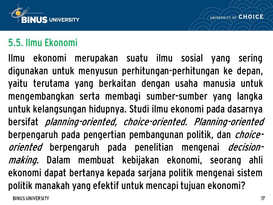 5.5. Ilmu Ekonomi