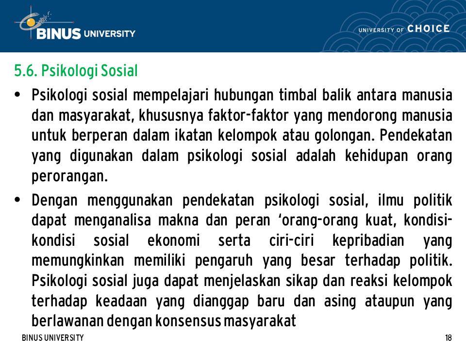 5.6. Psikologi Sosial