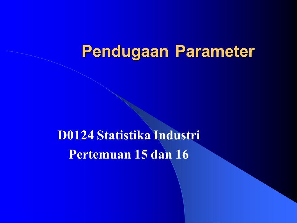 D0124 Statistika Industri Pertemuan 15 dan 16
