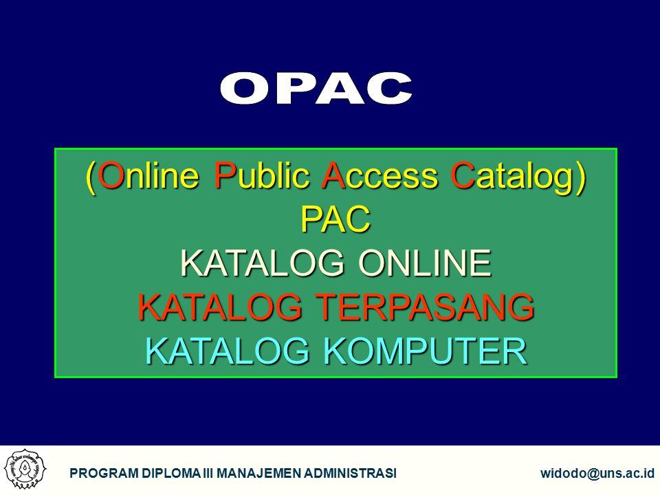 (Online Public Access Catalog)