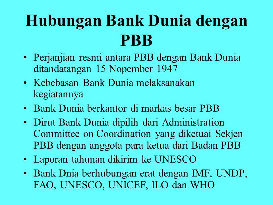 Hubungan Bank Dunia dengan PBB